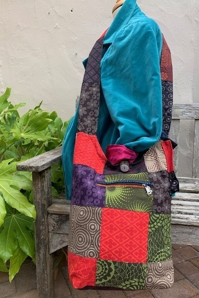 HANDMADE PATCHWORK BUCKET BAG
