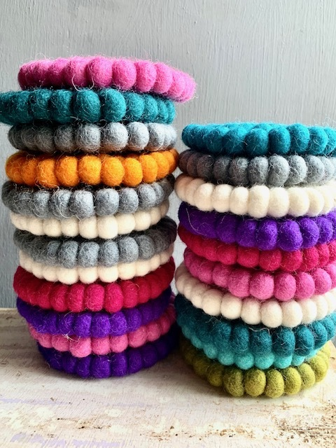 Hand Felted Coasters