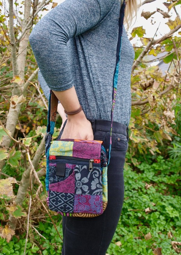 Handmade Patchwork Passport Bag